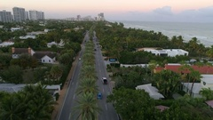 Aerial video Golden Beach Collins Avenue Stock Footage