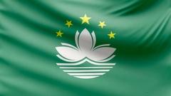 Realistic beautiful Macao flag 4k Stock Footage