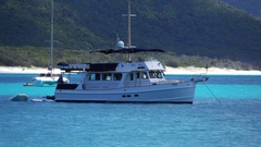 Whitehaven Beach, Boat in the Ocean, Tropical Stock Footage