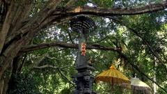 Figure of Hindu supreme god Sang Hyang Widhi Wasa.. Bali, Indonesia Stock Footage
