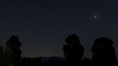 Astral Time Lapse of The Andes in Mendoza Region (Uco Valley) of Argentina 4k Stock Footage
