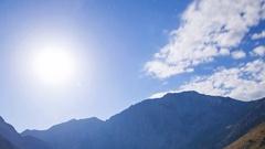 MoCo Astro Timelapse of Moonset over Alpine Lake in Eastern Sierra -Long Crop- Stock Footage