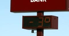 Sub-Zero Temperature - Winter - Thermometer - 4k Stock Footage