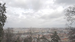 Czech Republic, Prague. View from the top Stock Footage
