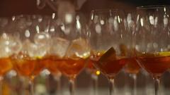 Aperol Spritz Cocktail Stock Footage