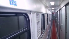 Wagon Train Compartment Stock Footage