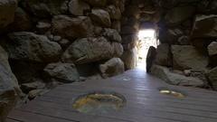 Nurag's in Sardinia. Archeological landmarks of Italy.  Stock Footage