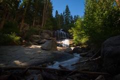 6K MoCo Timelapse of Sunlight Illuminating Waterfalls in the Morning  Stock Footage