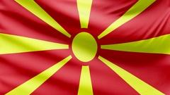 Realistic beautiful Macedonia flag 4k Stock Footage