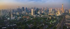 BANGKOK THAILAND - DECEMBER 11 : aerial view of skyscraper in heart of bang.. Stock Photos