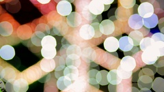 Multicolored Christmas lights sparkle on the Christmas tree. Stock Footage
