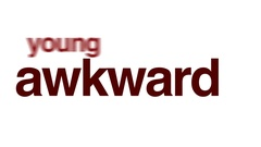 Awkward animated word cloud. Stock Footage