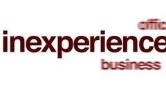 Inexperience animated word cloud. Stock Footage
