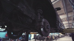 From below view of car Stock Footage
