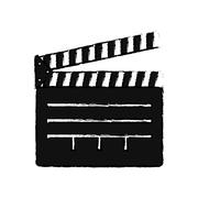 Cinema clapboard equipment Stock Illustration