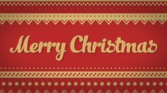 Merry Christmas red background Stock Illustration