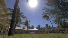 Bright sun shining over summer resort in Mauritius Stock Footage