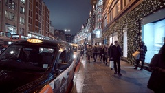 Christmas shopping in London - beautiful at XMas Time Stock Footage