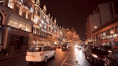 Beautiful Street decoration in London at Christmas Time Stock Footage