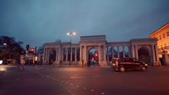 Hyde Park Corner in London Stock Footage