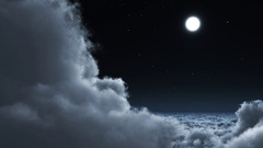 Fly through night cloud Stock Footage
