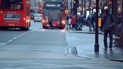 Crowd at Oxford street at Christmas Time - shopping in London Stock Footage