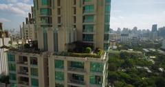 Luxury Condominium in Sukhumvit, Bangkok, Ascending Wraparound Shot Stock Footage