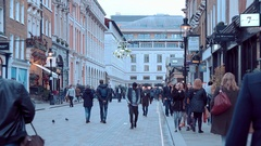 People walking at Covent Garden in London Stock Footage