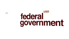 Federal government animated word cloud. Stock Footage