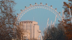Amazing London Eye - view from St James s Park in London Stock Footage