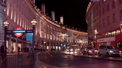 London at Christmas Time - amazing Regent Street Christmas decoration Stock Footage