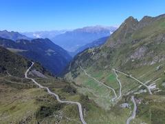 San Marco Pass - Alpine pass Stock Footage