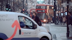 London Oxford street at Christmas Time - the perfect place for shopping Stock Footage