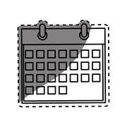 Isolated calendar date Stock Illustration