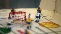 Hockey table game Stock Footage
