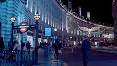 Regent Street London - a wonderful place at Christmas Time Stock Footage