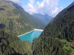 Dam of Scais - Orobie Valtellinesi Stock Footage