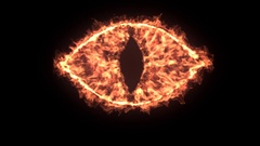 The eye of devil, 4k high detailed simulation of fire devil eye Stock Footage