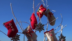Decorations against the blue sky Stock Footage