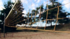 Empty Volleyball field Stock Footage
