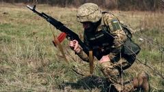 ZHYTOMYR, UKRAINE: Military soldiers Stock Footage