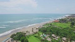 Canggu Batu Bolong Sky Beach Bali Indonesia Aerial 4k Stock Footage