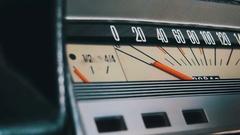 Vintage car speedometer Stock Footage