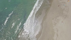 Beautiful Beach Canggu Old Mans Aerial 4k Stock Footage