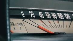 Retro car speedometer Stock Footage