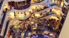 WARSAW, POLAND - DECEMBER, 18, 2016. 4K tilt video of Christmas sale at typical Stock Footage