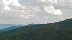 Time lapse with view on mountain Stock Footage