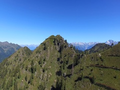 High mountain - Peaks - Panoramic aerial view Stock Footage