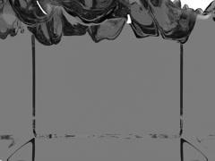 3d render grey transparent liquid filling up screen, use luma matte like alpha Stock Footage