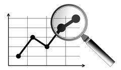Concept of business analysis Stock Illustration